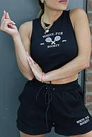 Женский спортивный костюм майка и шорты
