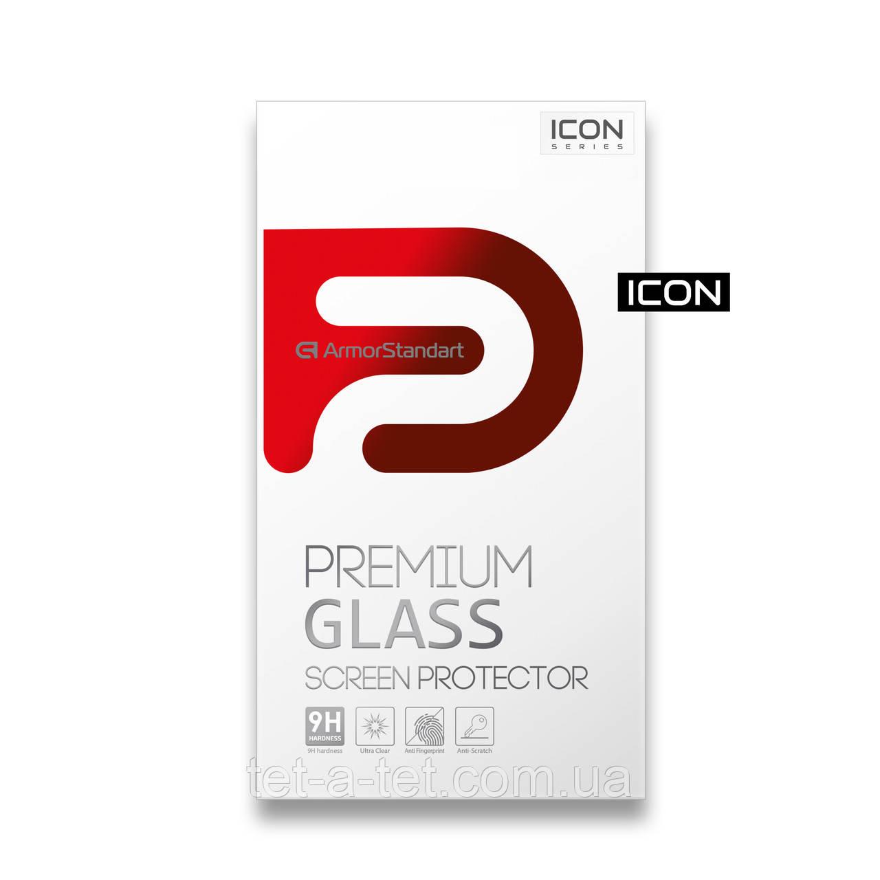 Защитное стекло Armorstandart Icon для Xiaomi Redmi Note 9T Black (premium glass)
