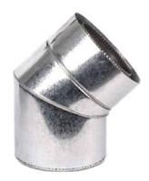 Колено термо  для дымохода  Ø150/220 45° 0,8мм нерж/оцинк