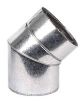 Колено термо  для дымохода  Ø160/220 45° 0,5мм нерж/оцинк