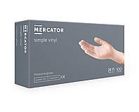 Перчатки медицинские защитные виниловые Mercator M