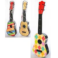 Гитара детская 2508D, 57,5см, 4 струны, микс видов, в чехле