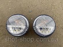 Ліхтар передній (підфарник) світлодіодний біле скло з ДХО УАЗ 452.469.31519
