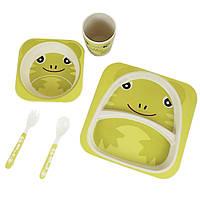Детская бамбуковая посуда Bamboo Kids Set -  Лягушка