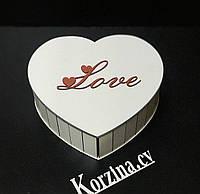 Подарочная коробка сердце Love, для упаковки подарков!