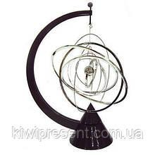 Настольный магнитный маятник Космос 31 см Маятник-сувенир вечный двигатель Галактика 6 вращающихся сфер