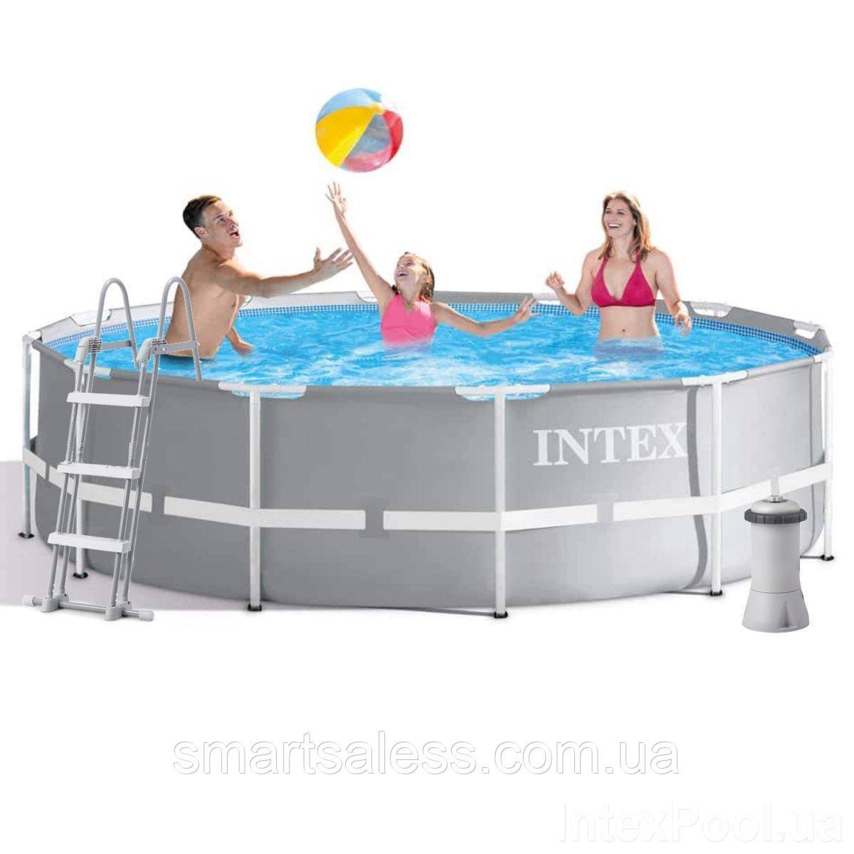 Каркасний басейн Intex, 366 x 99 см, насос 3 785 л/год, сходи, підстилка, тент