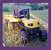 Трактор педальный с прицепом / Трактор на педалях / Педальный трактор желтый Biberlogu\ 2005