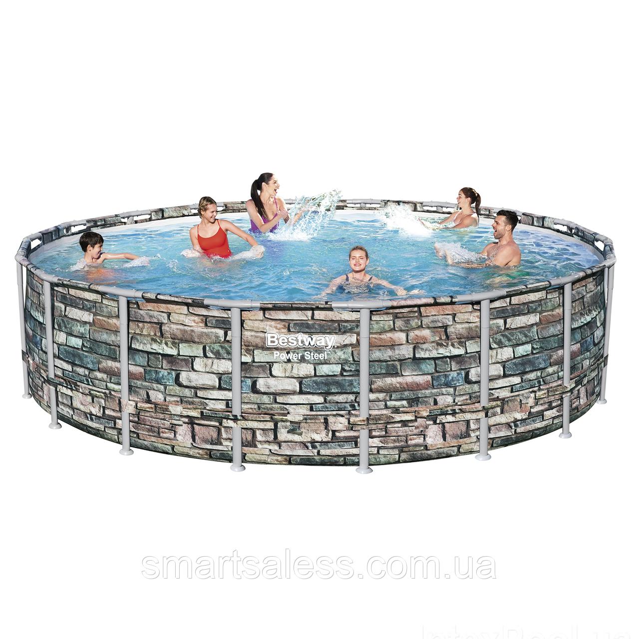 Каркасний басейн, чаша + каркас, 549 x 132 см