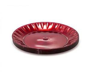 Тарелка стекловидная 205 мм красная уп/10 шт