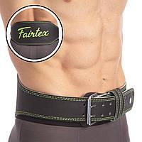Атлетичний Пояс шкіряний FAIRTEX 167075 (ширина-6in (15см), р-р S-XL, з підкладкою для спини, чорний)