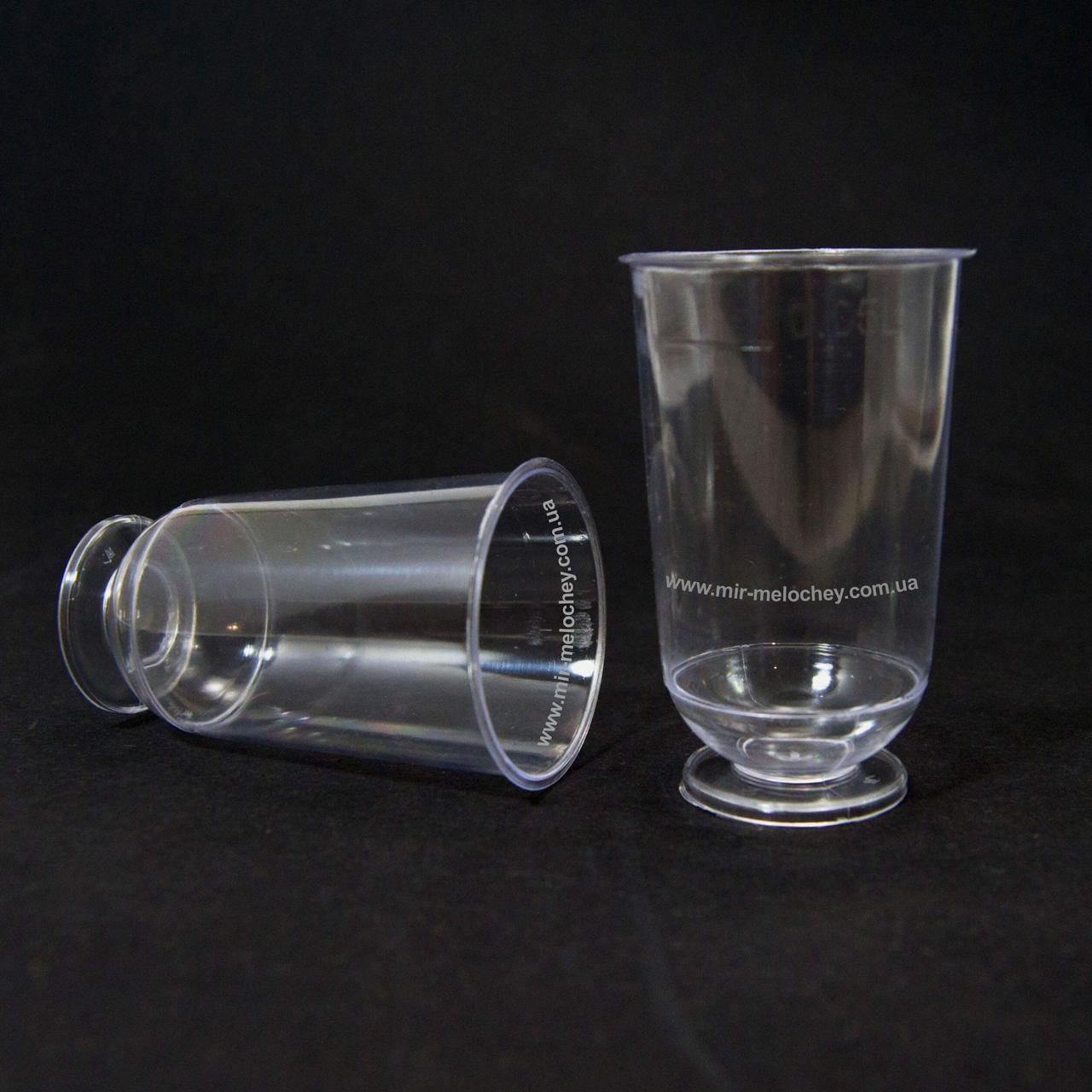 Чарка стеклоподобная на ніжці 50 гр (40 шт)