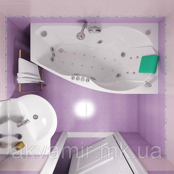 Ванна Тритон  Бриз 150х95х67 ассиметричная правая/левая с каркасом и экраном