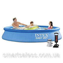 Надувний басейн Intex 28118 - 3, 305 х 61 см (1 250 л/год, тент, підстилка, насос)
