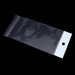 Пакети з липкою стрічкою і европодвесом 9см 22,5 см 25мк (1000 шт)