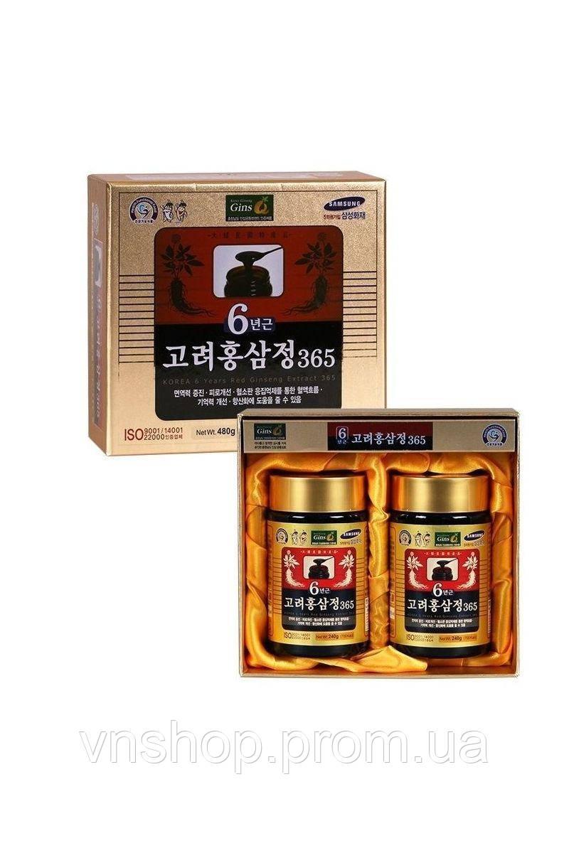 Корейська екстракт з 6 річного червоного женьшеню 480г (240 х 2 пляшки)