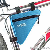 Сумка треугольная для велосипеда Bag Triangular ER45 велосумка велобардачок под раму на велосипед Синяя