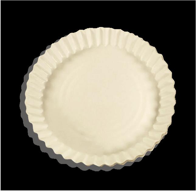 Тарелка бумажная для пиццы круглая 200 мм белая 100 шт