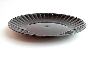 Тарелка стекловидная 205 mm черная 10 шт/уп