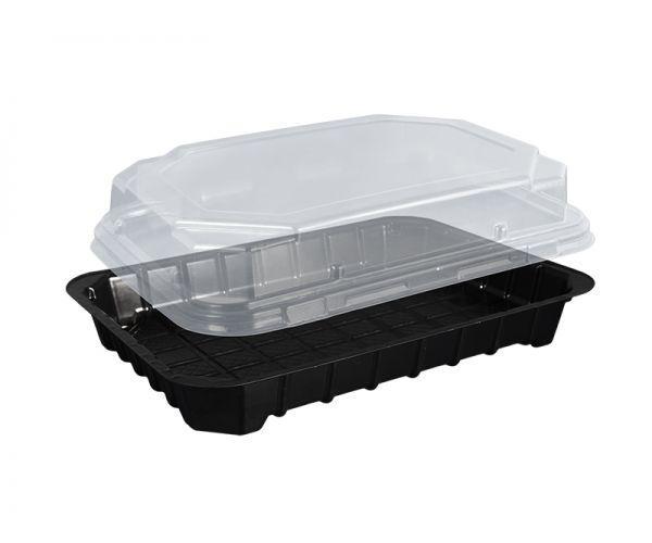 Упаковка для суші з кришкою ПС-63ДЧ 16,8*11,5 см 50 шт/уп