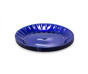 Тарелка 160 мм десертная стекловидная, голубая 10 шт
