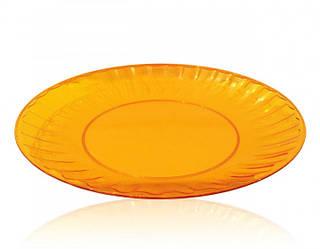 Тарелка 205 мм стекловидная, оранжевая 10 шт