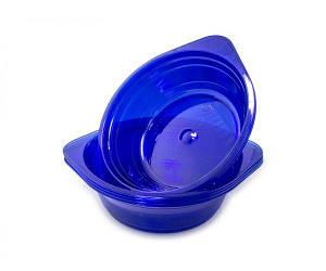 Миска одноразовая 500мл Стекловидная Юнита синия 10 шт