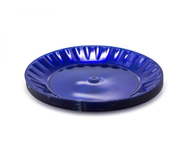 Тарілка 205 мм склоподібна, блакитна, 10 шт/уп