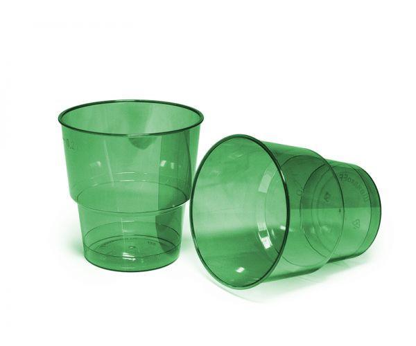 Стакан 200 мл склоподібний, зелений уп./25 штук