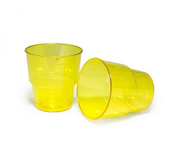 Стакан стеклоподобный без ніжки 200 гр жовтий (25 шт)
