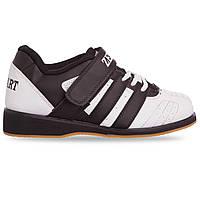 Штангетки обувь для тяжелой атлетики Zelart OB-4594 размер 38-45 белый-черный