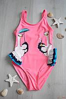 Купальник для маленькой модницы с забавными страусятами (104 см.) Teres 2125000675411