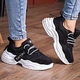 Кросівки жіночі 41 розмір 25,5 см Чорні, фото 5