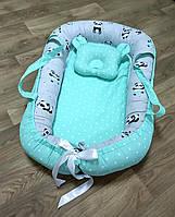 2в1 подушка для кормления - Кокон позиционер для новорожденного гнездышко Беби нест