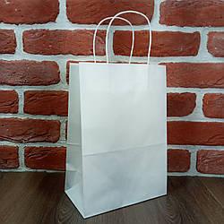 Пакет паперовий з ручками 28*19*11,5 см білий 25 шт