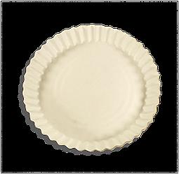 Тарелка бумажная под пиццу одноразовая 275мм белая 100 шт