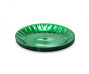 Тарелка одноразовая 160 мм Стекловидная Зеленая (10 шт)