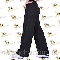 Палаццо брюки женские черная двунитка