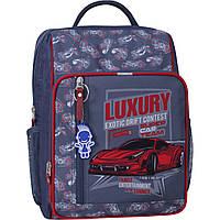 Рюкзак школьный для мальчика  младших классов 8 л. Stars школьный рюкзак с ортопедической спинкой,принт машина, фото 1
