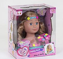Лялька-голова манекен для зачісок і макіяжу світловий ефект з аксесуарами