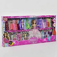 Кукла с платьями, гардеробом одежды Girl Fashion Y 02 А-1, Кукла в подарок BARBIE Барби с набором платьев