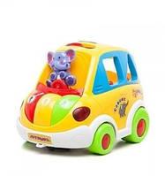 Машинка логическая автошка сортер Play Smart, Интерактивная игрушка для развития мелкой моторики рук малыша