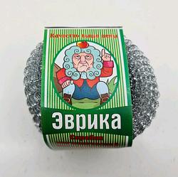 """Мочалка залізна Сітка (а3) """"Еврика"""" 60гр"""