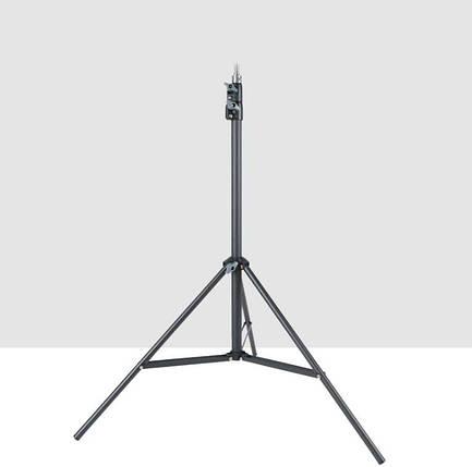 Стійка-штатив для кільцевої лампи та фото аксесуарів (металевий посиленої міцності) 2 метри TS-200, фото 2