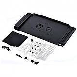 Столик для ноутбука с охлаждением Laptop Table T8 Черный, фото 6