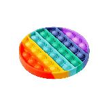 Антистрес сенсорна іграшка Pop It коло Силіконова Поп Іт Push Up Bubble Різнобарвна Пупырка, фото 6