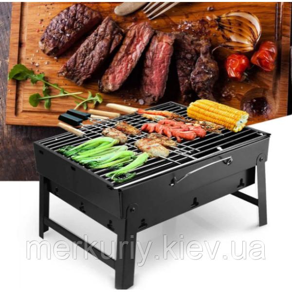 Складной барбекю гриль BBQ Grill портативный мангал, BBQ Grill Portable – жаропрочный из нержавеющей стали