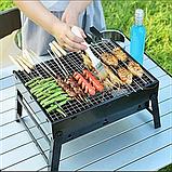 Складной барбекю гриль BBQ Grill портативный мангал, BBQ Grill Portable – жаропрочный из нержавеющей стали, фото 2