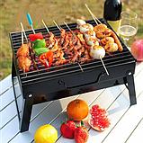Складной барбекю гриль BBQ Grill портативный мангал, BBQ Grill Portable – жаропрочный из нержавеющей стали, фото 3