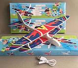 Самолет Планер с мотором и зарядкой USB 36778, пенопластовый самолет с мотором, метательный планер, фото 8